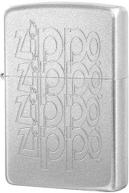 205 Logo Зажигалка Zippo Variation, Satin Chrome