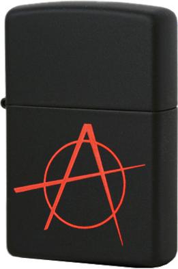 20842 Зажигалка Zippo Anarchy, Black Matte