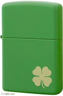 21032 Зажигалка Zippo Shamrock, Green Matte