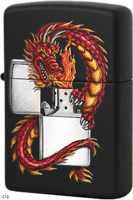 218 Dragon Зажигалка Zippo Дракон, Black Matte