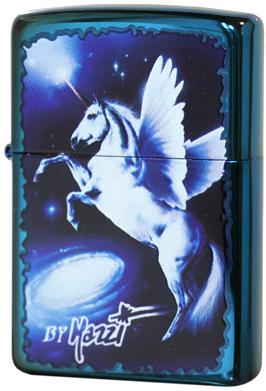 24081 Зажигалка Zippo Mazzi Unicorn Fantasy, Sapphire