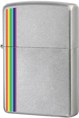 24340 Зажигалка Zippo Colorz, Satin Chrome