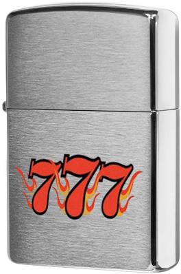 24491 Зажигалка Zippo SV-7, Brushed Chrome