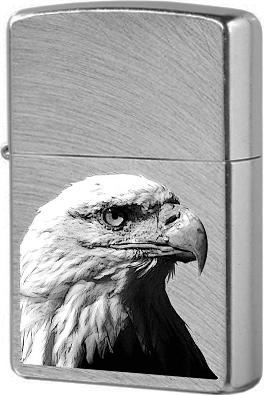 24647 Eagle Head Зажигалка Zippo, Chrome Arch