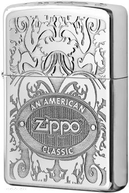 24751 Зажигалка Zippo AN American Classic, Polish Chrome