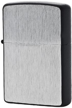 24752 Зажигалка Zippo Framed Chrome, Black Matte