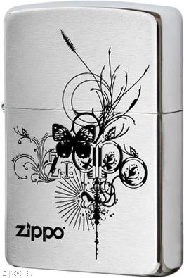 24800 Зажигалка Zippo Butterfly, Brush Chrome