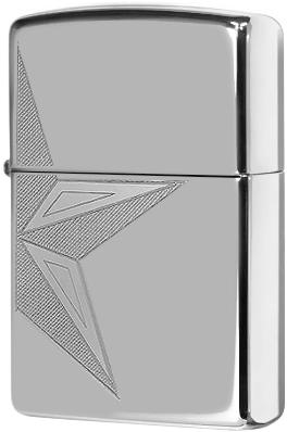 250 Half Star Зажигалка Zippo, High Polish Chrome
