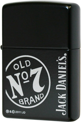 28013 Зажигалка Zippo Jack Daniel's Old No.7 Brand Stamp, Licorice