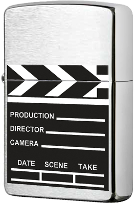 28064 Зажигалка Zippo Movie Take Clapperboard, Brushed Chrome