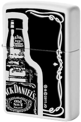 28252 Зажигалка Zippo Jack Daniels Old Number 7 Bottle, White Matte