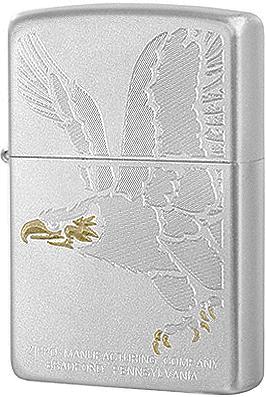 28356 Зажигалка Zippo Engraved Eagle, Satin Chrome