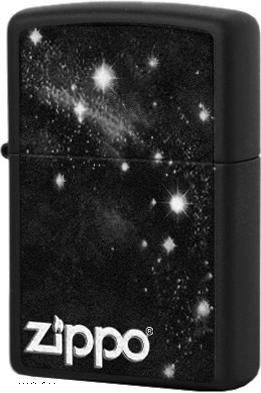 28433 Зажигалка Zippo Galaxy, Black Matte