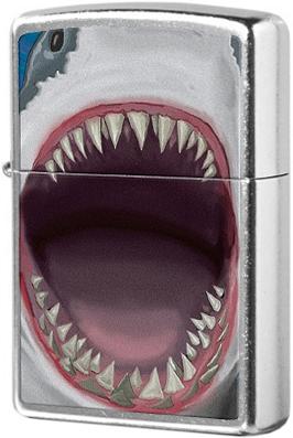 28463 Зажигалка Zippo Shark Teeth, Street Chrome