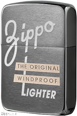 28534 Зажигалка Zippo Original Windproof 1941 Replica, Black Ice