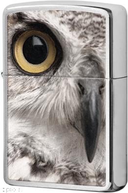 28650 Зажигалка Zippo Owl, Brushed Chrome
