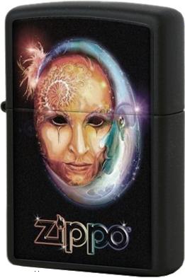 28669 Зажигалка Zippo Venetian Mask, Black Matte