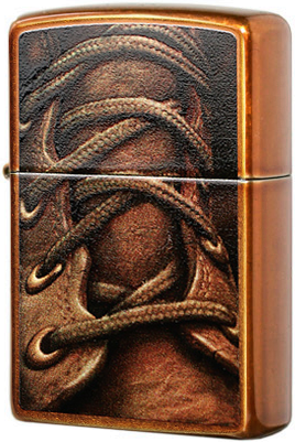 28672 Зажигалка Zippo Boot Laces, Toffee Finish