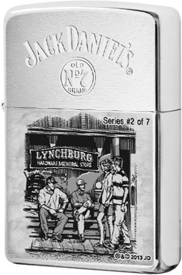 28737 Зажигалка Zippo Lynchburg Hardware General Store, Brush Chrome