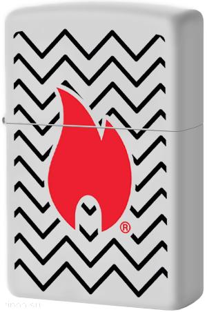 29192 Зажигалка Zippo Zig Zag Pattern, White Matte
