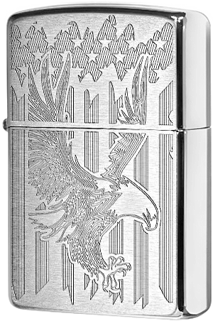 29216 Зажигалка Zippo Eagle, Brushed Chrome