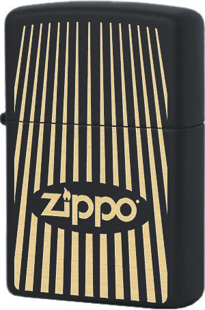 29218 Зажигалка Zippo Stripes, Black Matte