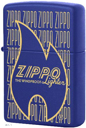 29220 Зажигалка Zippo Logo Variation, Royal Blue Matte
