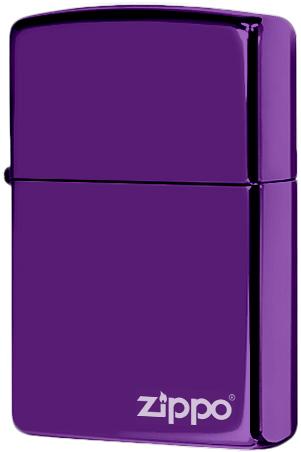 24747zl Зажигалка Zippo Logo, Deep purple Abyss