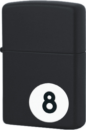 28432 Зажигалка Zippo 8-Ball, Black Matte