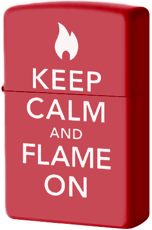 28671 Зажигалка Zippo Keep Calm And Flame On, Red Matte