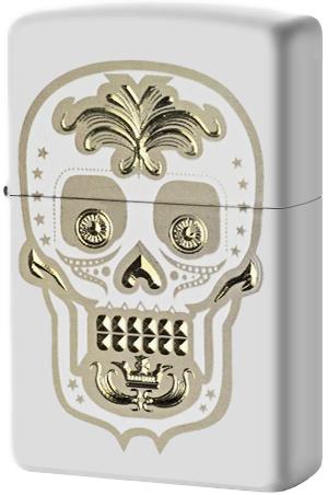 28792 Зажигалка Zippo Sugar Skull Design, White Matte