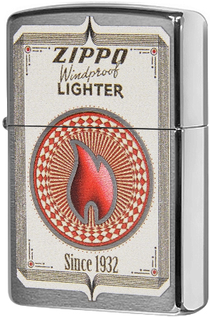 28831 Зажигалка Zippo Windproof Since 1932, Brushed Chrome