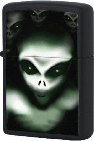 28863 Зажигалка Zippo Aliens, Black Matte