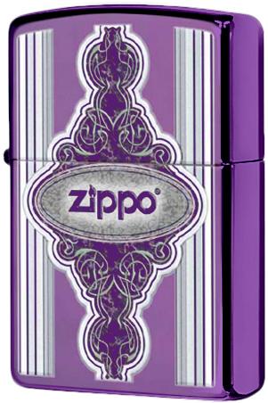 28866 Зажигалка Zippo Vintage Frame, Purple Abyss
