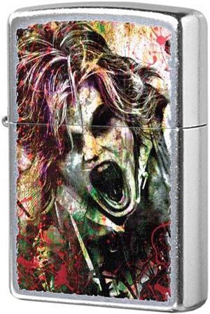 28876 Зажигалка Zippo Zombie Blood Horror, Street Chrome
