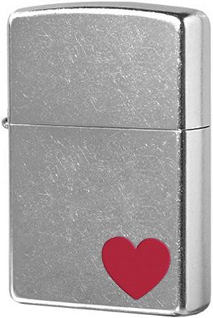 29060 Зажигалка Zippo Love, Street Chrome