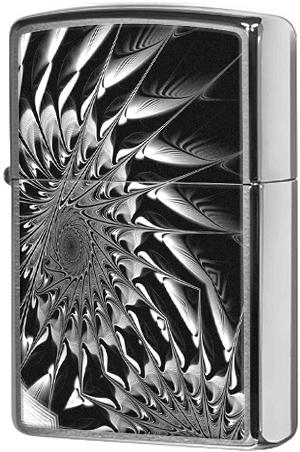 29061 Зажигалка Zippo Metal Abstract, Brushed Chrome
