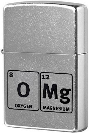 29062 Зажигалка Zippo Oxygen and Magnesium, Street Chrome