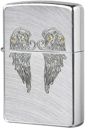 29069 Зажигалка Zippo Angel Wings, Chrome Arch