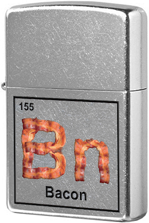 29070 Зажигалка Zippo Bacon Element, Street Chrome
