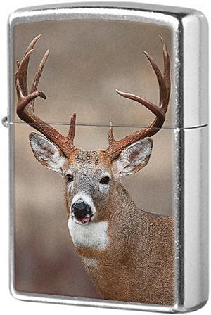29081 Зажигалка Zippo Deer, Street Chrome