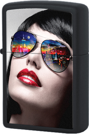 29090 Зажигалка Zippo Reflective Sunglasses, Black Matte