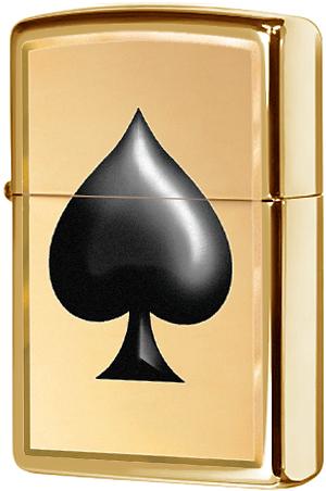29094 Зажигалка Zippo Ace of Spades, Polish Brass