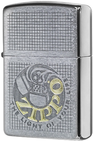29236 Зажигалка Zippo The Light of Your Life, Brushed Chrome