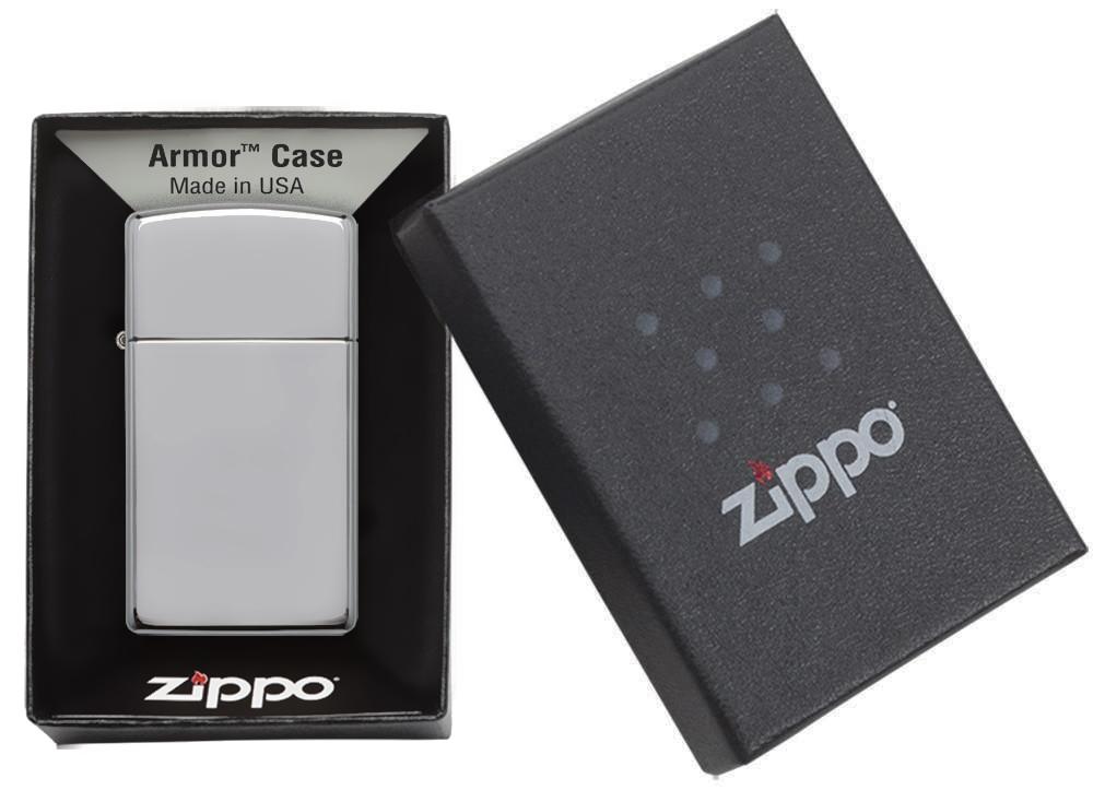 1606 Зажигалка Zippo Armor Slim, Polish Chrome в подарочной коробке