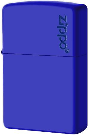 229ZL Зажигалка Zippo Logo, Royal Blue Matte