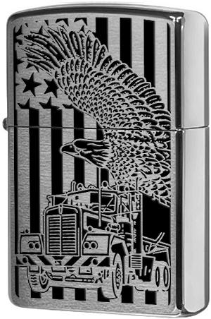 24826 Зажигалка Zippo Truck Eagle, Brushed Chrome