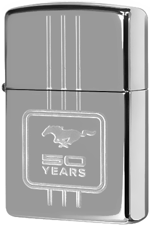 28542 Зажигалка Zippo Ford 50 Years, Polish Chrome