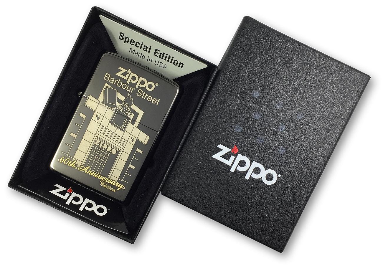 28790 Зажигалка Zippo Barbour Street Building, Ebony в фирменной подарочной коробке