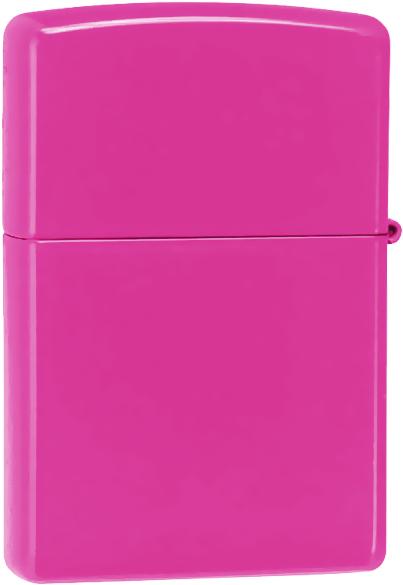 28886 Зажигалка Zippo Neon Pink обратная сторона